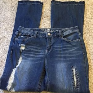 Super Cute Flare Leg Jeans by Hippie Laundry